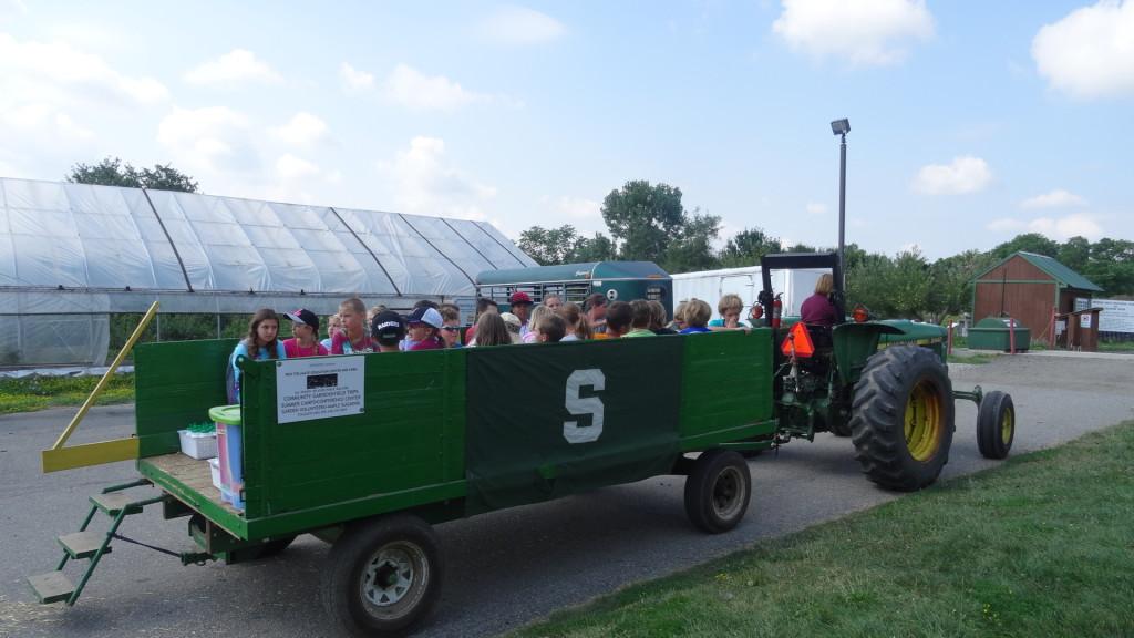 Campers always enjoy the hayride!